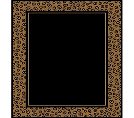 Black & Leopard Stylish Dorm Room Floor Rug College Decor Accessory