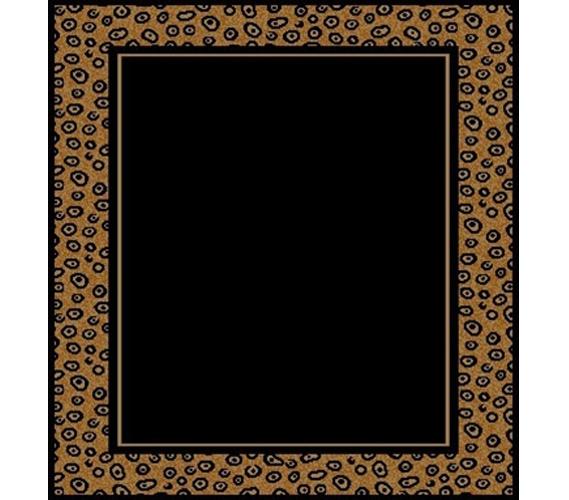 Black Amp Leopard Stylish Dorm Room Floor Rug Designer