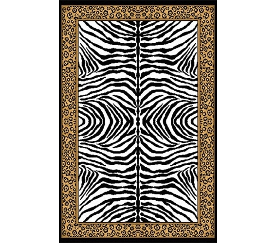 Zebra Cheetah College Dorm Room Rug