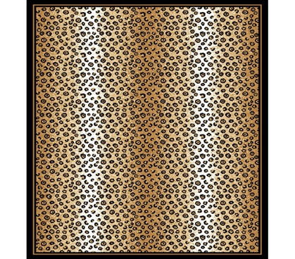 Dorm Room Streaking Leopard Print College Rug Decor Essentials