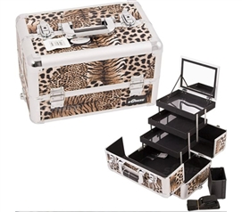 College Girl Cosmetic Case - Leopard Brown Pro - Great Look And Function