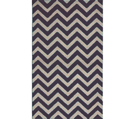 Decorate Your Dorm - Arctic Chevron Rug - Black And Silver