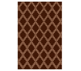 Adds Character Too - Trella Stitch Dorm Rug - Mocha and Acorn - Decor For Your Dorm