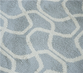 Infinity Dorm Rug - Silver & Ivory