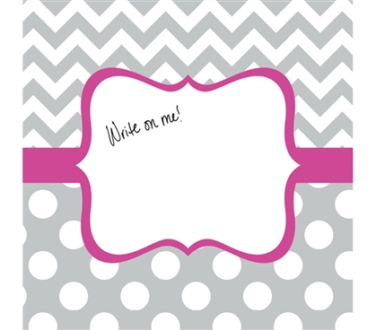 Essential Dorm Decor - Canvas Kudos - Signable Wall Canvas - Whimsical Gray And Bright Pink