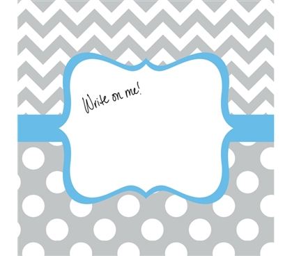 College Decor - Canvas Kudos - Signable Wall Canvas - Whimsical Gray And Light Blue
