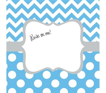 College Decorations - Canvas Kudos - Signable Wall Canvas - Whimsical Light Blue And Gray