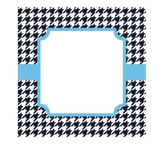 Canvas Kudos - Signable Wall Canvas - Houndstooth Navy And Light ...