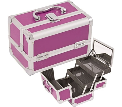 College Girl Cosmetic Case - Purple Case With Mirror - Items For Dorms