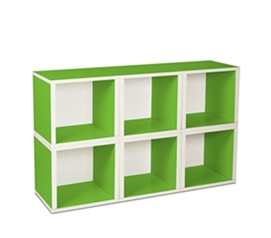 6 Modular Cubes Shelf Green - Way Basics Dorm - Useful Dorm Storage