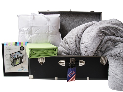 Guys Dorm Bedding In A Trunk