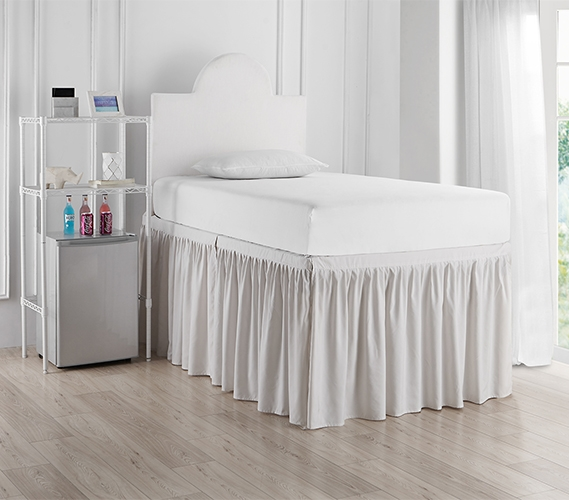 Dorm Sized Bed Skirt Panel With Ties Jet Stream
