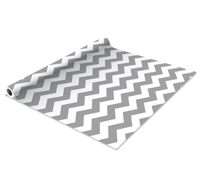 Self Adhesive Shelf Liner Gray Zig Zag Stuff Decor Wall