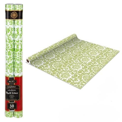 Self Adhesive Shelf Liner - Mint Green Damask Dorm Decor Shelf ...