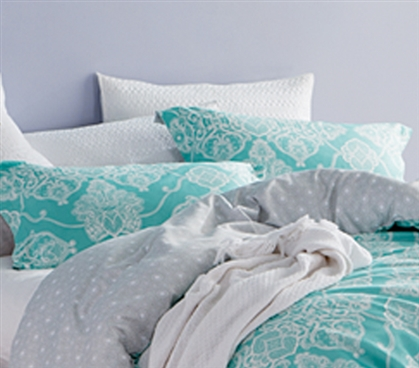 Alberobella - Minty Aqua Sham Dorm Essentials Dorm Room Decorations