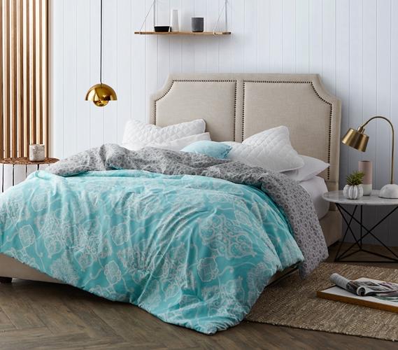 Alberobella Minty Aqua Extra Long Twin Comforter Set Dorm Essentials