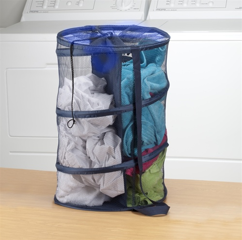 dual compartment hamper - dorm laundry bin multi-purpose college