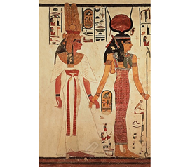 Ancient Egypt God - Nefertari Preceeded by Goddess Isis Dorm Poster.