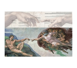 Fancy Painting Style of Creation of Adam - Michelangelo Poster for College Walls