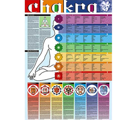 Meditation Instruction of Chakra  Wall Poster