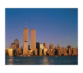 Dorm Room Decorations - New York Skyline At Sunset Poster - Cheap Posters Are Essential