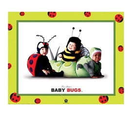 Baby Bugs Photography College Dorm Poster funny and cute dorm room poster shows adorable babies dressed as bugs