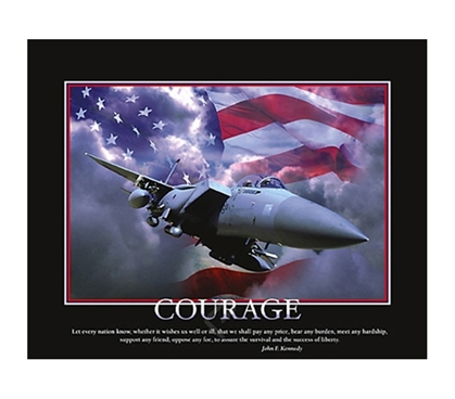 Courage airplane college dorm room poster inspirational for Cool posters for your room