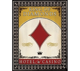 Hotel and Casino College Dorm Poster King of Diamonds perfect dorm room decor poster for college students
