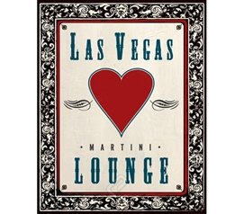 Martini Las Vegas Lounge Dorm Room Poster fun and cool Las Vegas themed dorm room decorating poster for students
