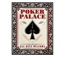 Poker Palace Gambling College Dorm Poster great dorm room decorating poster Poker theme for college students