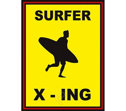 Surfer X-Ing Cool College Dorm Wall Poster colorful surf themed college dorm size poster for college surf fans