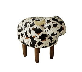 Jaxson - Black and White Cow - Dorm Room Seating Stool