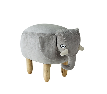 James - Gray Elephant - Dorm Room Seating Stool