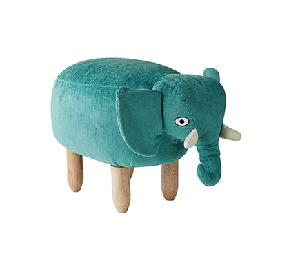 Oliver - Teal Elephant - Dorm Room Seating Stool