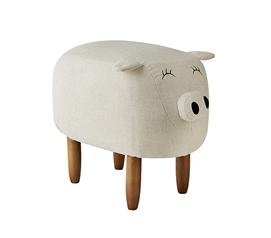 Suzie - Ivory Big Pig - Dorm Room Seating Stool