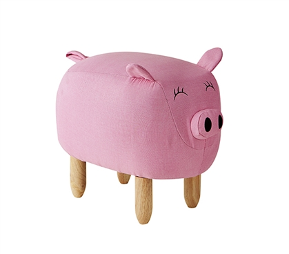 Claire - Pink Big Pig - Dorm Room Seating Stool
