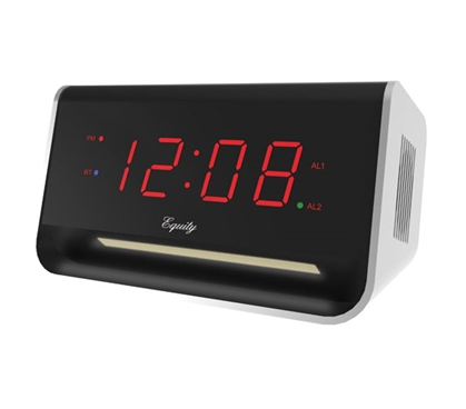 Bluetooth LED Dorm Alarm Clock with USB Port