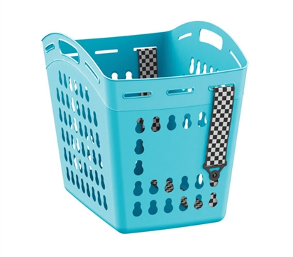 Hands Free Laundry Basket With Adjustable Strap - Aqua