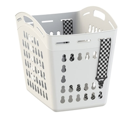 Hands Free Laundry Basket With Adjustable Strap - White