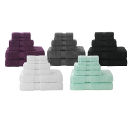 Super Absorb College Towel Set - 6 Piece 100% Cotton
