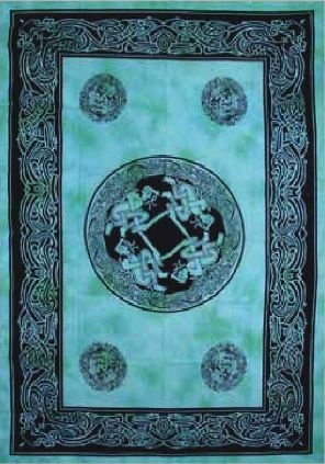 Teal Shimmer Celtic Tapestry