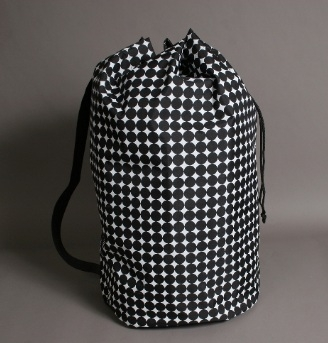 Polka Dot Laundry Tote Black College Stuff Dorm Needs