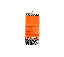 Orange Trim Zebra - Cosmetic Bag