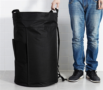 Holds Plenty - Oversized College Laundry Duffel Bag - Black - Needed For Laundry