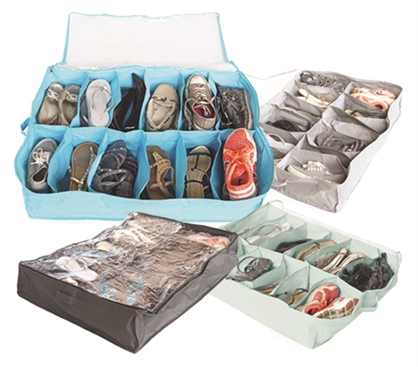 Cool Colors - Under Bed Shoe Storage - Vibrant - Great For Keeping Dorm Neat