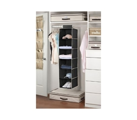 Multi Function - 6 Sweater Shelf Organizer - Black or Cream