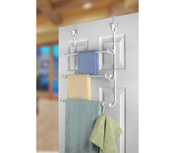3 Rack Towel Holder For Over The Door Use Is A College Dorm Room