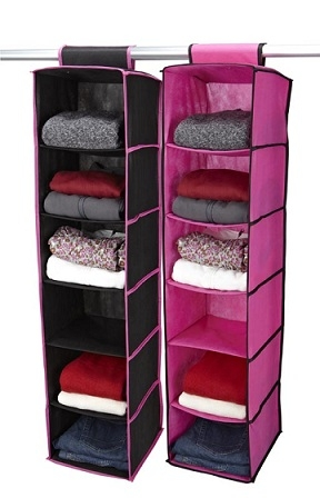 Black Amp Fuschia 6 Shelf Sweater Organizer Dorm