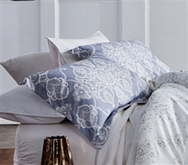 Alberobella - Silver Gray Sham Dorm Essentials Dorm Room Decorations