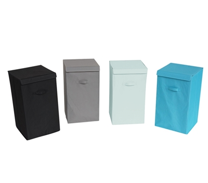 Great Space Saving Design - Collapsible Fold-Up Laundry Hamper - Vibrant Colors